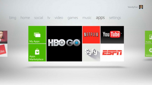 Xbox video apps