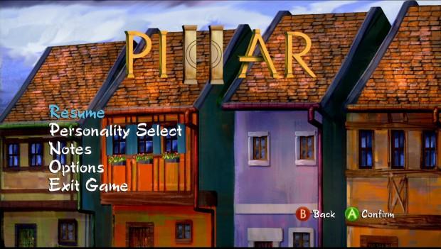 Pillar Pause Screen