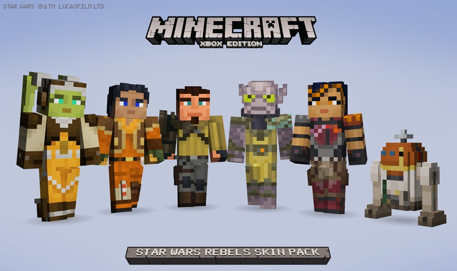 Star Wars Rebels Skin Pack Available Now For Minecraft XBLAFans - Skins gratis minecraft xbox 360