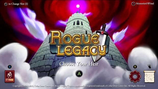 Rogue Legacy Main Menu