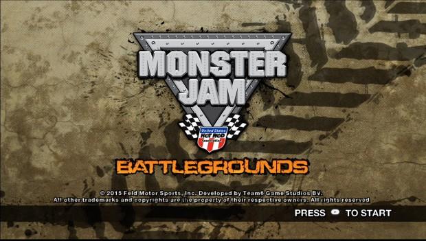 Monster Jam Battlegrounds Title