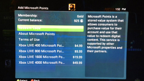 Microsoft Points Now Sold in Useful Sizes