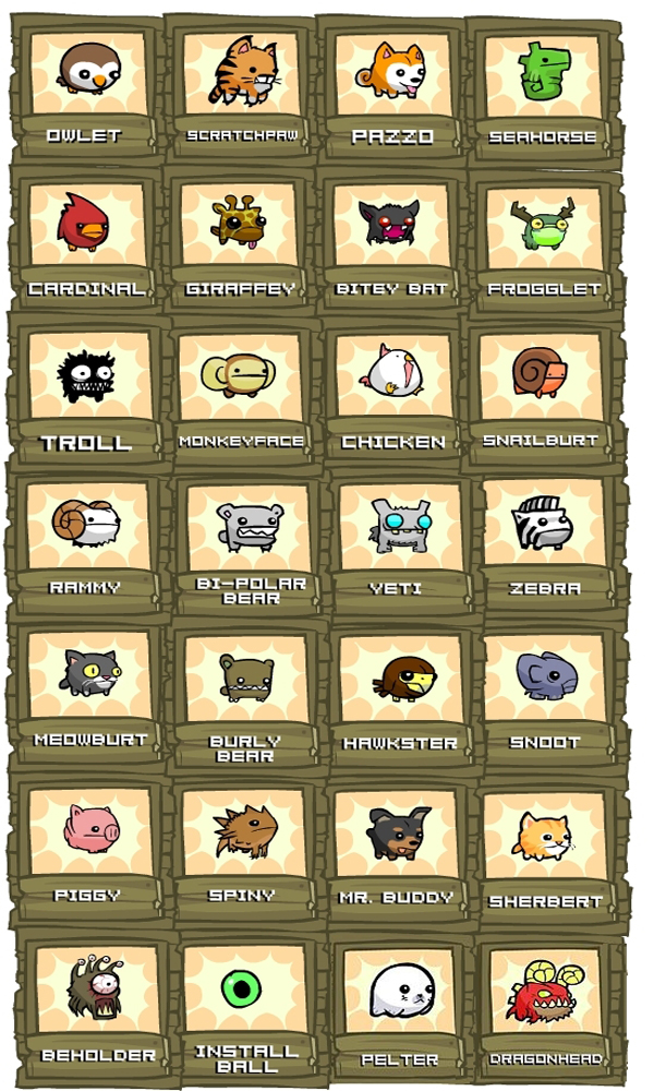 Castle Crashers Animal Orb Guide