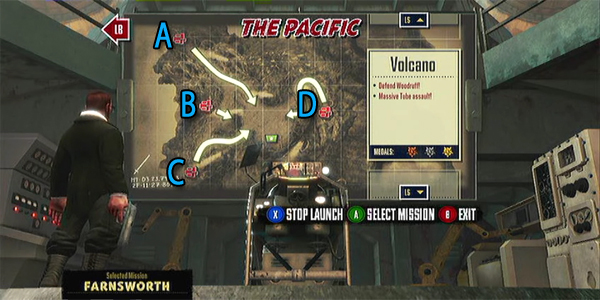 Trenched Pacific Volcano map guide