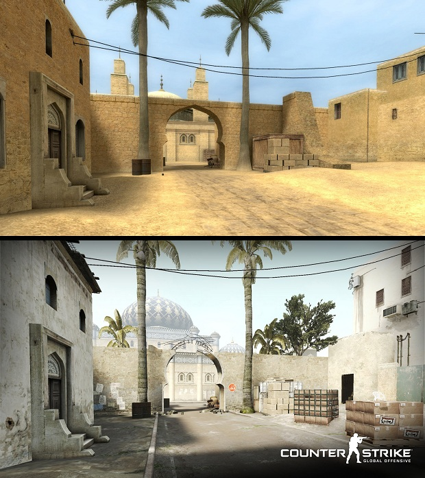 Check out the changes to de_dust in Counter-Strike: Global Offensive