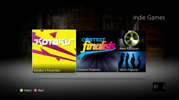 The new Xbox dashboard and the indie games market