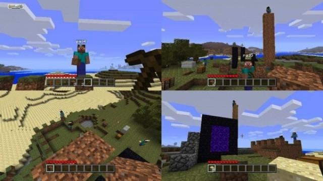 Splitscreen Minecraft