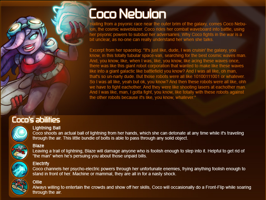 Awesomenauts Guide – Coco Nebulon