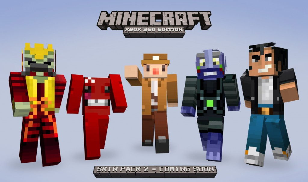 Indie greats revealed for Minecraft skin pack 2