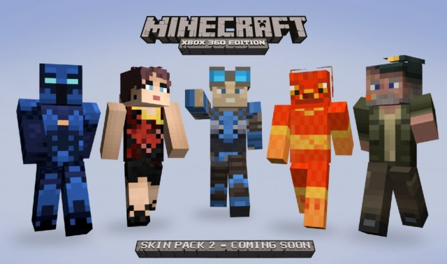 Xbox 360 Minecraft Default Skins Second Skin Pack for M...