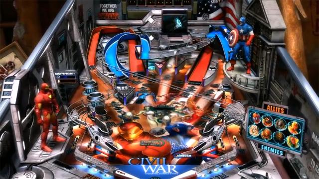 Civil War breaks out in Pinball FX2