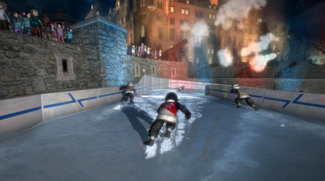 Red Bull Crashed Ice Kinect cam footage is fast, noisy