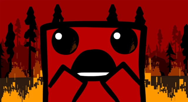 Super Meat Boy Scared