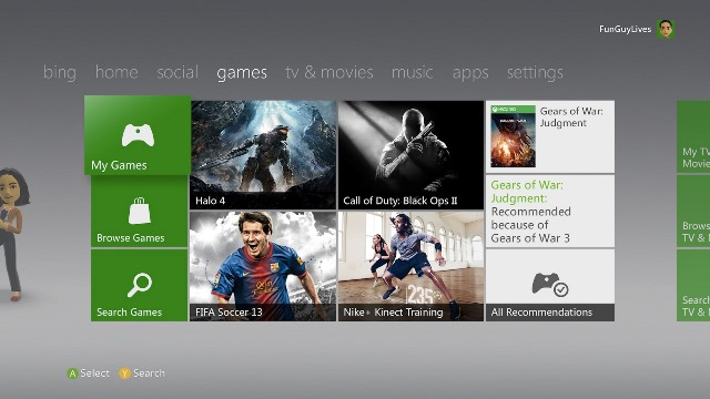 Xbox 360 Dashboard
