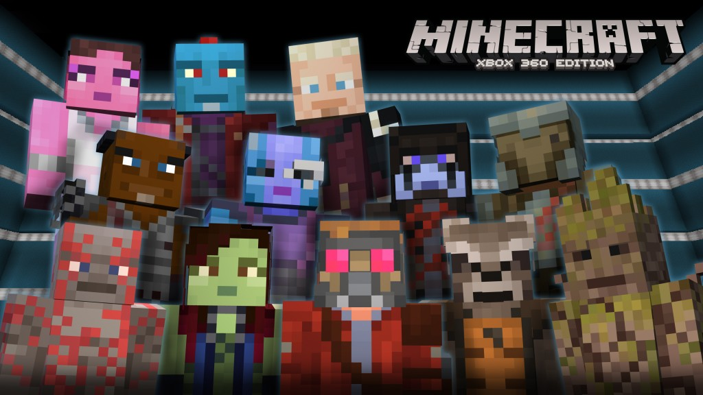 Minecraft visited by the Guadians of the Galaxy
