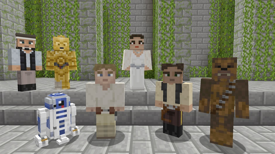 Minecraft gets Star Wars skins