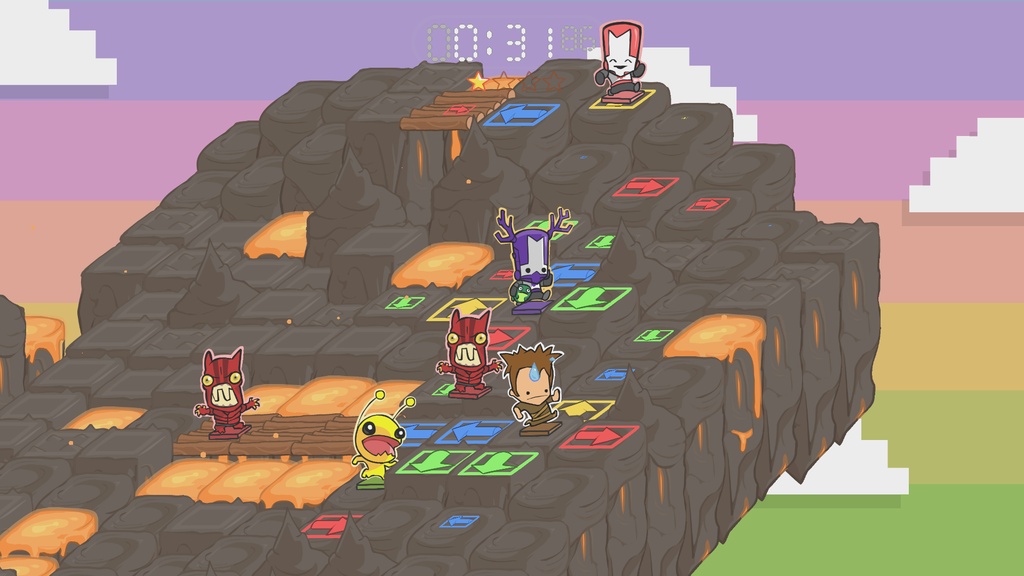 Castle crashers clusterpuck and lovers in a dangerous spacetime out