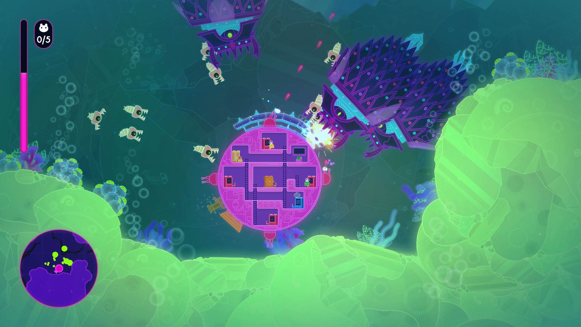 Lovers in a Dangerous Spacetime Gumball Ship