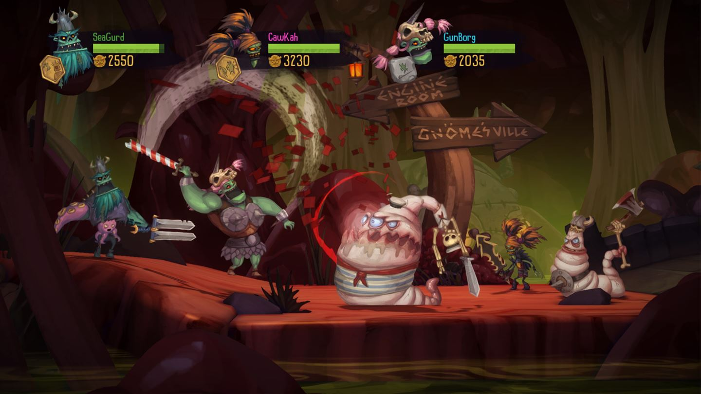 zombie vikings kill the worms