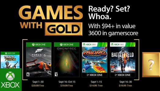 Oxenfree headlines September Games With Gold
