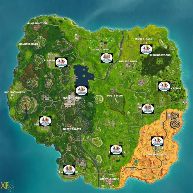 Birthday Cake Locations For Fortnite's 1st Birthday